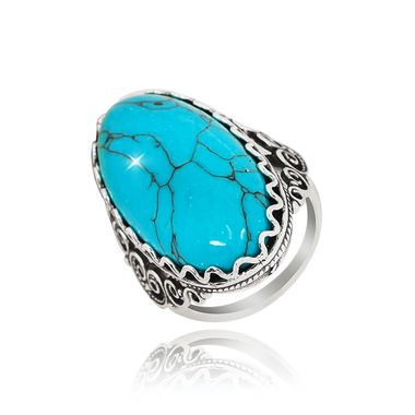 Кольцо с бирюзой арт. 456815-9529