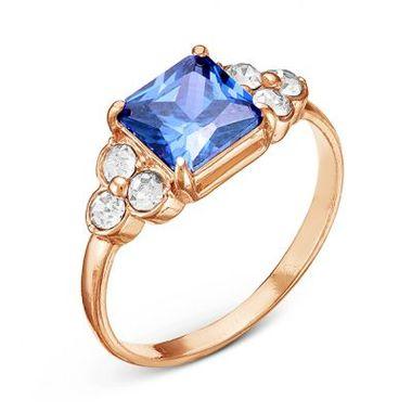 Позолоченное кольцо с фианитами арт. 2488763Д