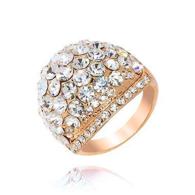 Кольцо под золото с кристаллами Swarovski