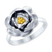 Кольцо из серебра с золочением - SOKOLOV