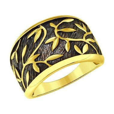 Кольцо из золочёного серебра арт.95010099