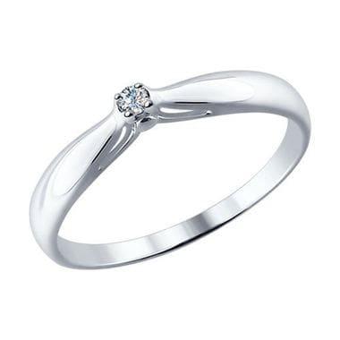 Серебряное помолвочное кольцо с бриллиантом арт. 87010002