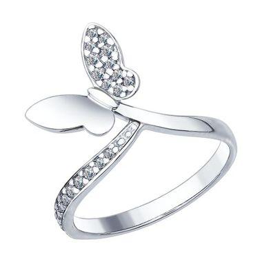 Кольцо из серебра с фианитами арт. 94012416