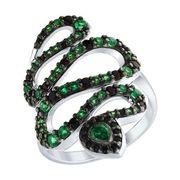 Кольцо «Змея» из серебра - SOKOLOV