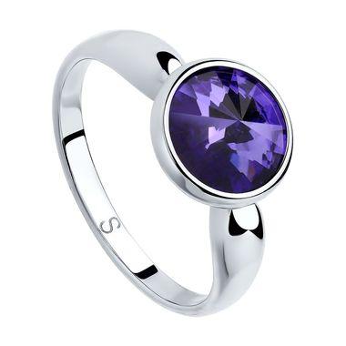 Кольцо из серебра с сиреневым кристаллом Swarovski арт. 94012604
