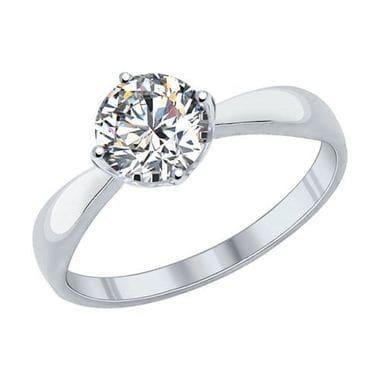 Помолвочное кольцо SOKOLOV Swarovski Zirconia