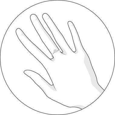 Помолвочное кольцо SOKOLOV с фианитом