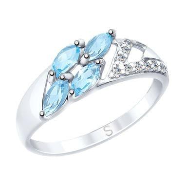 Серебряное кольцо с топазами арт. 92011641