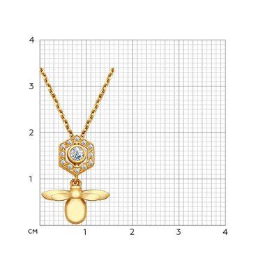 Колье из золочёного серебра с фианитами арт. 93070006