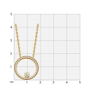 Колье из золочёного серебра с фианитами арт. 93070010