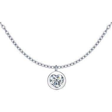 Колье из серебра с фианитом арт. 94070053