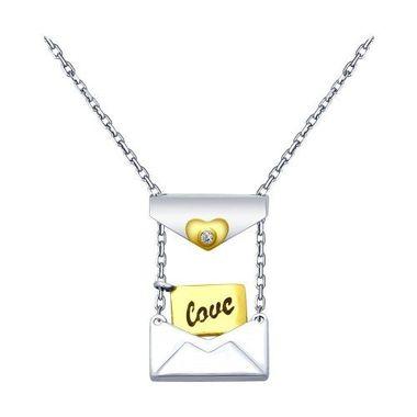 Колье «Love» из серебра с фианитом арт. 94070111