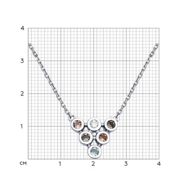 Колье из серебра Swarovski Zirconia арт. 94070110