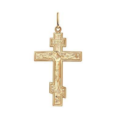 Крест SOKOLOV из золочёного серебра арт. 93120023