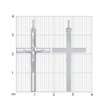 Католический крест SOKOLOV из серебра арт. 94120118
