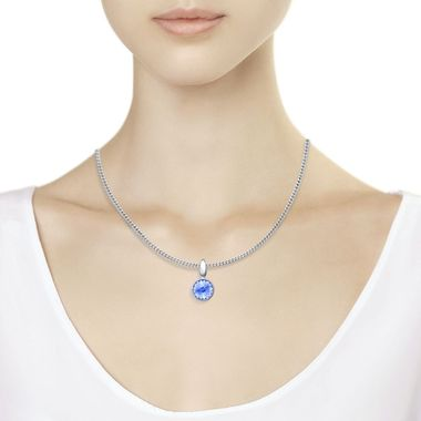 Подвеска из серебра с голубым кристаллом Swarovski арт. 94032072