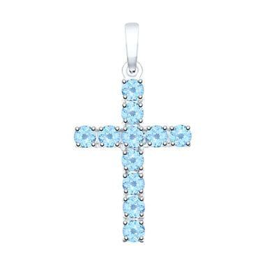 Крестик SOKOLOV из серебра с топазами арт. 92030511