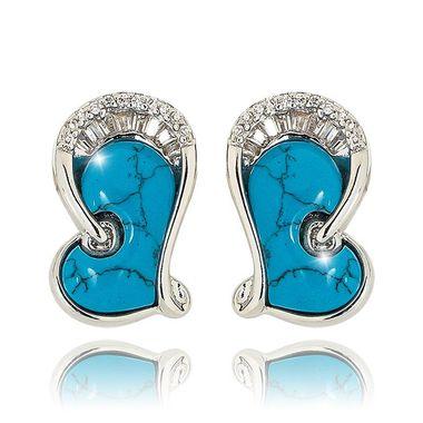 Серьги Сердце с кристаллами Swarovski арт. 156218-3026