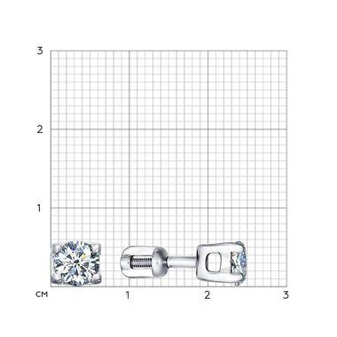 Серьги-пусеты из серебра с фианитами арт. 93020671