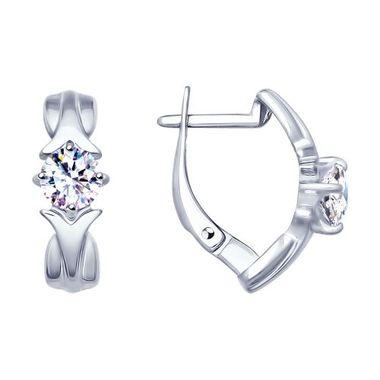 Серьги из серебра с фианитами арт. 94022900