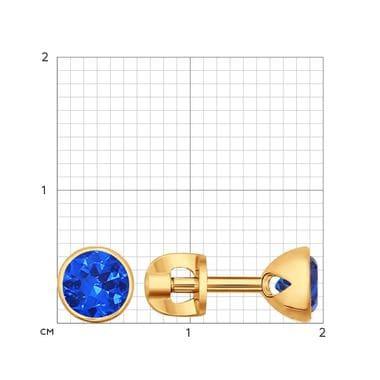 Золоченые пусеты SOKOLOV 93020616