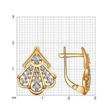 Серьги из золочёного серебра с фианитами арт. 93020727