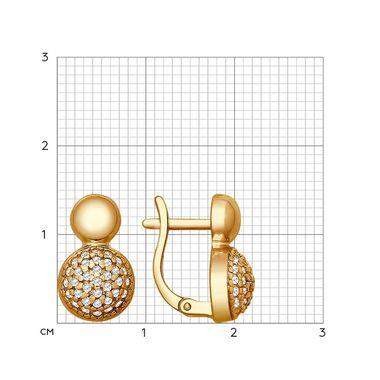 Серьги из золочёного серебра с фианитами арт. 93020822