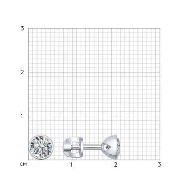 Серебряные пусеты с фианитами 94021901