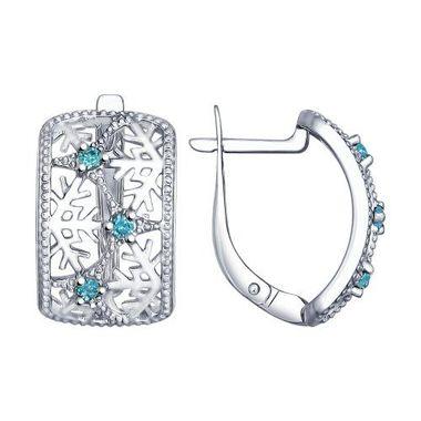 Серьги «Снежинка» из серебра арт. 94022541