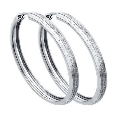 Серьги конго из серебра с алмазной гранью арт. 994140068