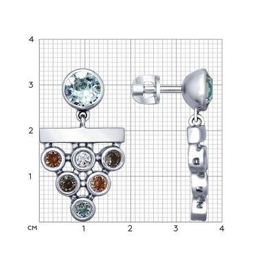 Серьги из серебра со Swarovski Zirconia арт. 94022598