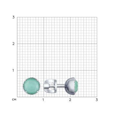 Серьги-пусеты из серебра с кристаллами Swarovski арт. 94022661