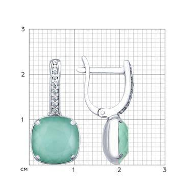 Серьги из серебра с кристаллами Swarovski арт. 94022663