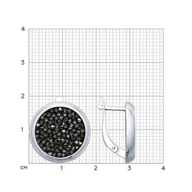 Серебряные серьги с кр. Swarovski арт. 94022680