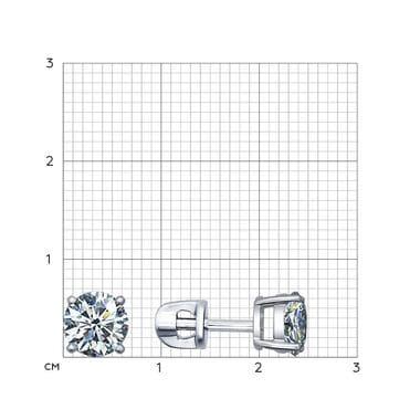 Серебряные пусеты со Swarovski Zirconia арт. 94020089
