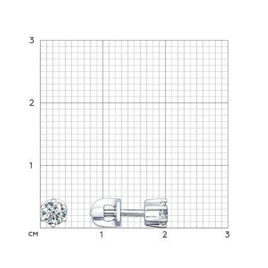 Серебряные пусеты SOKOLOV с фианитами 94021720