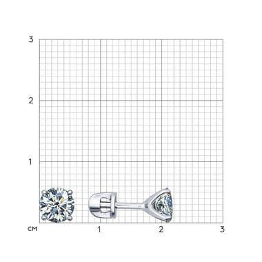Серьги-пусеты из серебра с фианитами арт. 94021746