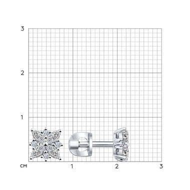 Серебряные пусеты с фианитами арт. 94021970