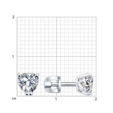 Серебряные пусеты с фианитами арт. 94021971