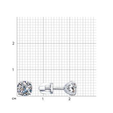 Серебряные пусеты со Swarovski Zirconia арт. 89020003