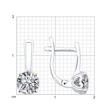 Серебряные серьги со Swarovski Zirconia арт. 89020004