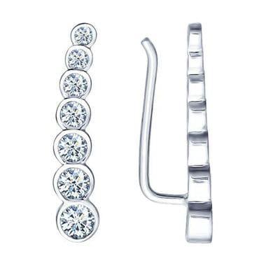 Серьги из серебра с фианитами арт. 94021653