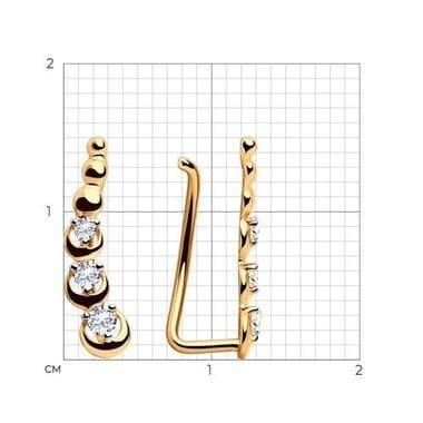 Серьги SOKOLOV из золота с фианитами арт. 028123